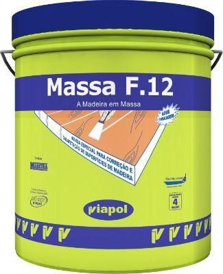 Massa Para Correção De Madeira Viapol F12 Branca 400 Gr