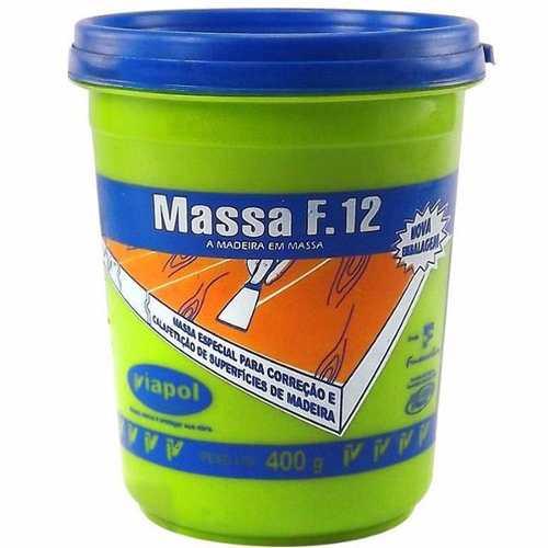 Massa Para Correção Madeira Viapol F12 Marfim 400 Gr