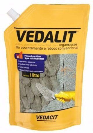 Aditivo Plastificante Vedalit Vedacit Saco De 1 Litro