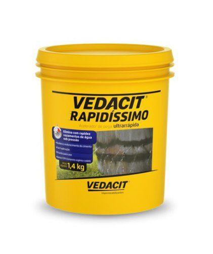Impermeabilizante Pega Ultrarrápida Vedacit Rapidíssimo 1,4 Kg