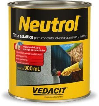 Tinta Asfáltica Vedacit Neutrol 900ml
