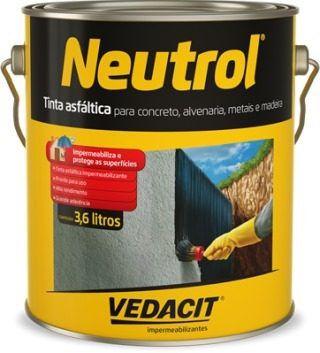 Tinta Asfáltica Vedacit Neutrol 3,6 Litros