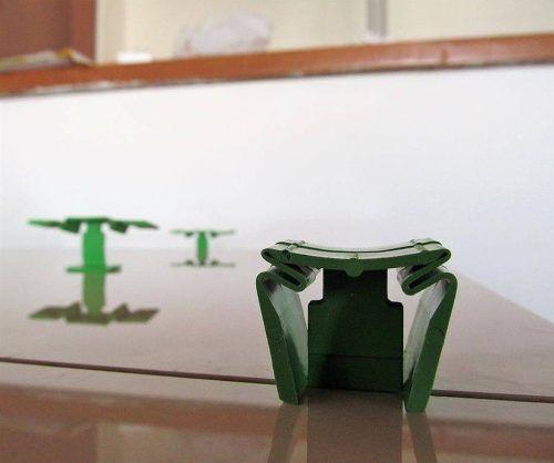 Espaçador Nivelador Robozinho 1,0mm Deplasti - Com 50 Peças