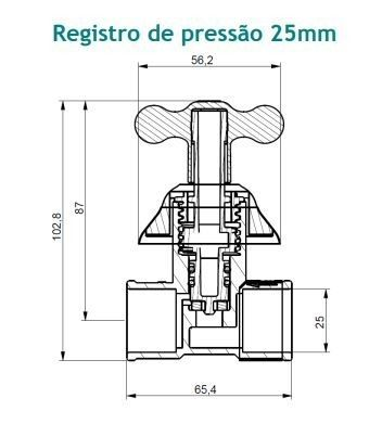 Registro De Pressão 25mm Branco Marujá Viqua - 1150108