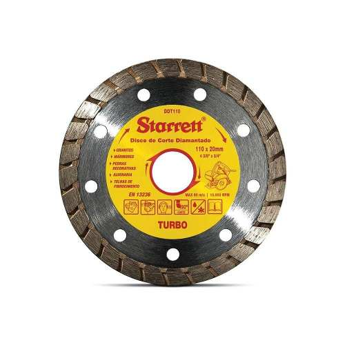 Kit Discos Diamantados Turbo Starrett Leve 3 Pçs Kddt110-3