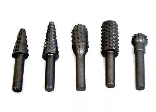 Jogo Limas Grozas Rotativas P/ Madeira 6mm C/ 5 Pçs Eda 8af
