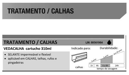 Selante Adesivo Flex Veda Calha Cinza Bautech 280gr C/2 Un