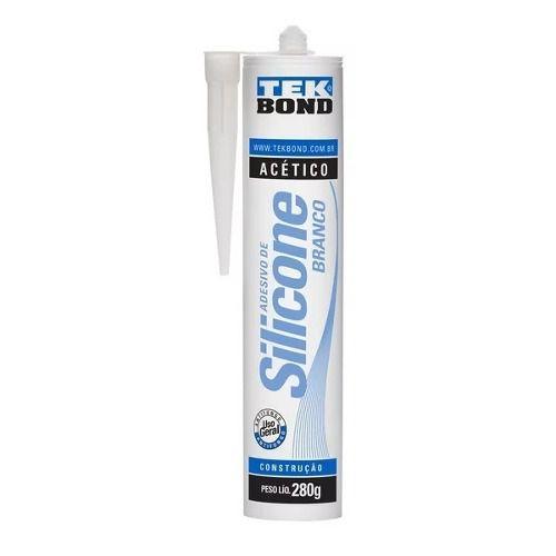 Adesivo Silicone Para Vedação Acético Branco 280g Tek Bond