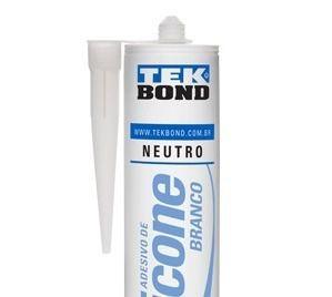 Adesivo De Silicone Neutro Branco 280g Tek Bond