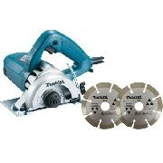 Kit Serra Mármore Makita 4.3/8 110mm 220v 1275w 4100nh3zx2 + 2 Discos