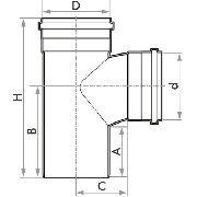 Tê Esgoto Fortlev 50mm (2'') - 10 Unidades