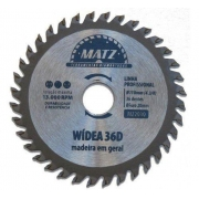 Disco Corte Madeira Widea 110mm 36 Dentes Matz Mz2020