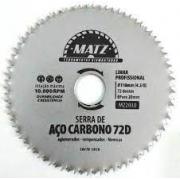 Disco de Corte Aço Carbono Para Madeira 72 Dentes 110mm 4.3/8