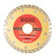 Disco Diamantado Para Esmerilhadeira Turbo 115 x 22,23mm Rocast 34,0009