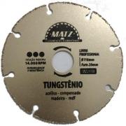 Disco Serra Mármore P/ Madeira Tungstênio 110mm Matz Mz2110