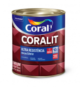 Esmalte sintético alto brilho Coralit Ultraresistência vermelho 900ml Coral
