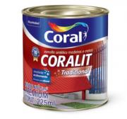 Esmalte Sintético Alto Brilho Preto 225ml Coralit Premium para Madeiras e Metais