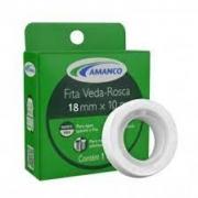 Fita Veda Rosca P/ Tubos E Conexões 18mm X 50m Amanco