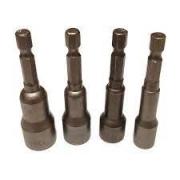 Jogo de Soquete Para Parafusadeira 4 peças 8-13mm