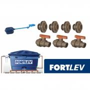 Kit Conexões Acessórios P/ Instalação Caixa D'água Fortlev