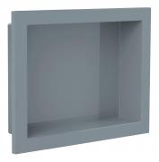 Nicho de Embutir em Mármore Sintético 30x30cm Cinza Cimento Forma Artefatos