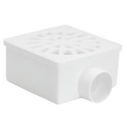 Ralo Sifonado Quad Com Grelha Branco 100x52x40 Amanco