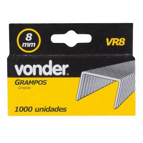 Grampos Reto 8mm Vonder Vr-8 - 1000 Unidades