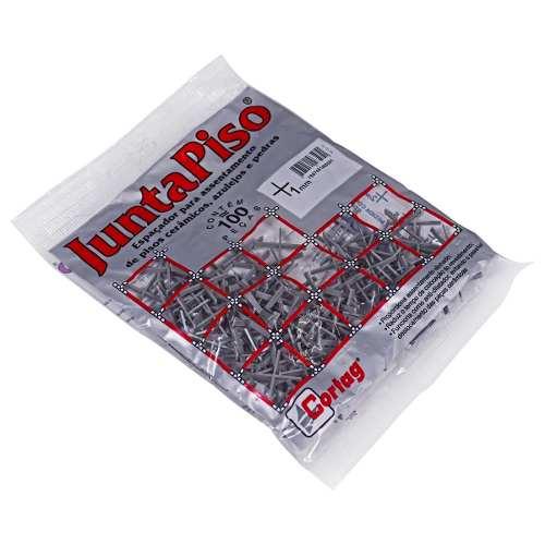 Kit 10 Espaçador Junta De Piso 1mm 1000 Pçs Cortag 60505