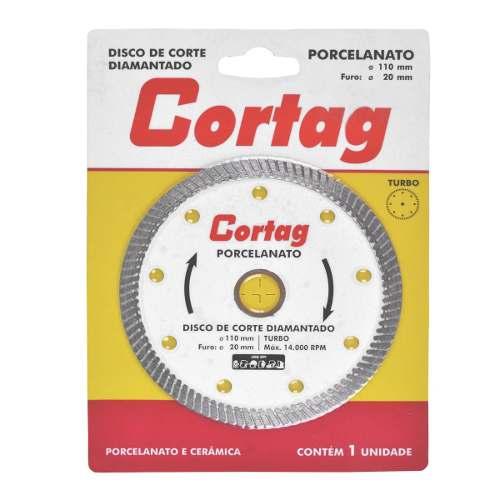 Disco Diamantado Turbo Porcelanato 60863 110mm Cortag