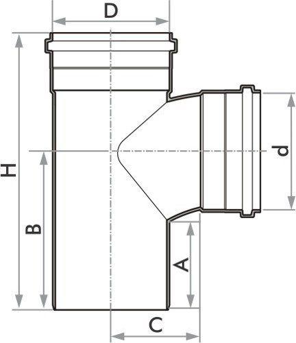 Kit 10 Tee De Esgoto Fortlev Serie Normal 40 mm (1.1/4'' Pol.)