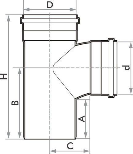 Tê Esgoto Fortlev 40mm (1.1/4'') - 10 Unidades