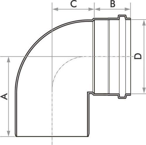 Joelho Esgoto Fortlev 150 mm X 90° (6'')