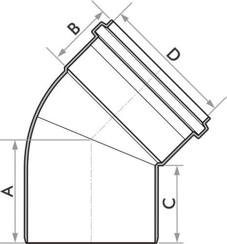 Kit 10 Joelho De Esgoto Fortlev 100 mm (4'' Pol.) X 45°