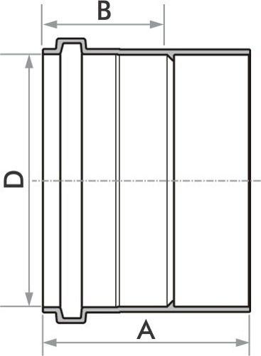 Kit 10 Luva De Esgoto Fortlev 50 mm (2'' Pol.)