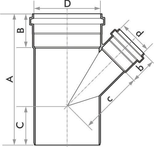 Kit 5 Junção De Redução Esgoto Fortlev 100 mm (4'') x 50 mm (2'')