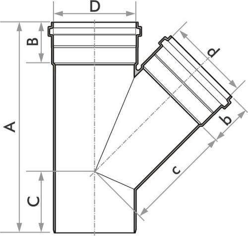 Junção De Esgoto Fortlev 50mm (2'') - 10 Unidades