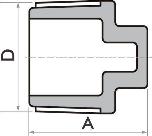 Kit 20 Plug Fortlev Pvc Roscável Para Água Fria 3/4''