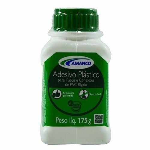 Adesivo Plástico Amanco Frasco Cola Tubo Conexões PVC Rígido 175g