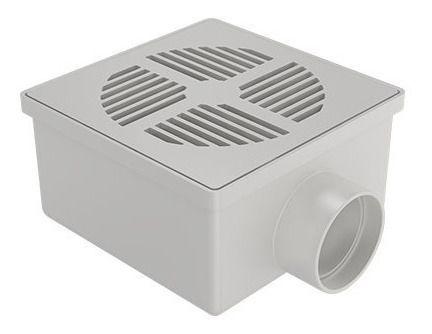 Ralo Sifonado Branco Quadrado 100x52x40 Fortlev