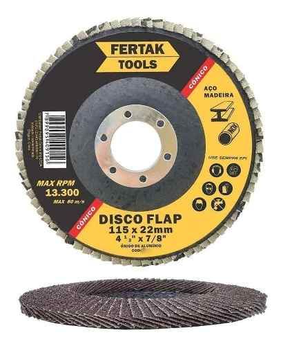 Disco Flap Cônico 4.1/2 (115mm) Grão 120 2833 Fertak