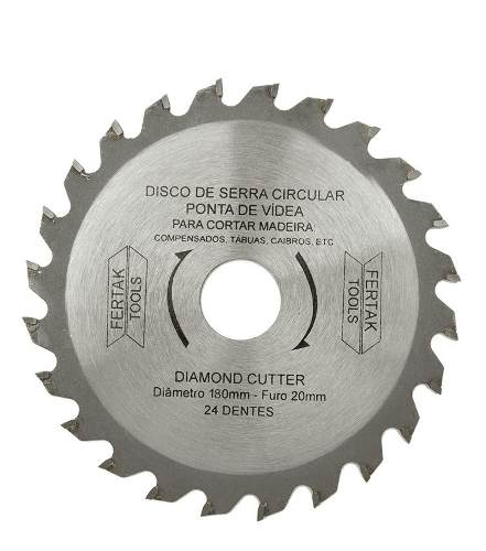 Disco Serra Circular 110mm 24 Dentes 2804 Fertak