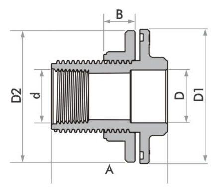 Kit 5 Adaptador C/ Flange E Anel Fortlev 20mm Soldável
