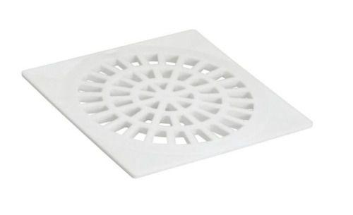Kit 10 Grelha Plástica Quadrada Branca Amanco Dn 150mm