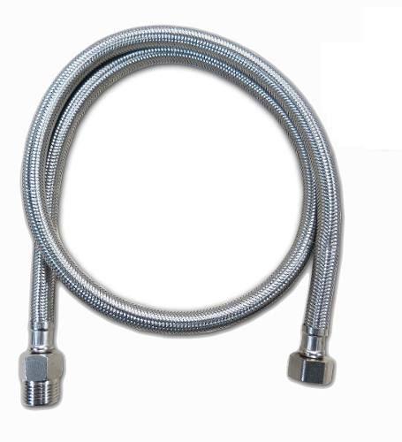 Engate Flexível Cromado Amanco 1/2'' Pol. X 40cm