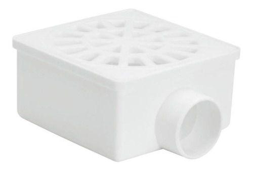 Kit 5 Ralo Sifonado Quad Com Grelha Branco 100x52x40 Amanco