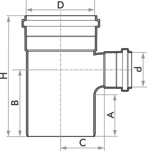 Kit 5 Tee Esgoto Redução Fortlev Serie Normal 100mm X 50mm