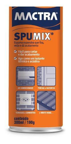 Espuma Expansiva Poliuretano Mactra Spumix 300ml