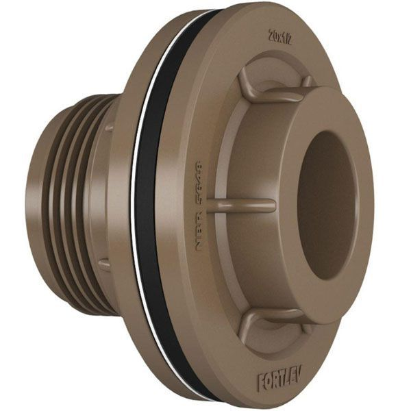 Kit 5 Adaptador C/ Flange E Anel Fortlev 20mm Soldável