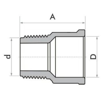 Kit 10 Adaptador Curto Fortlev 40mm Sold