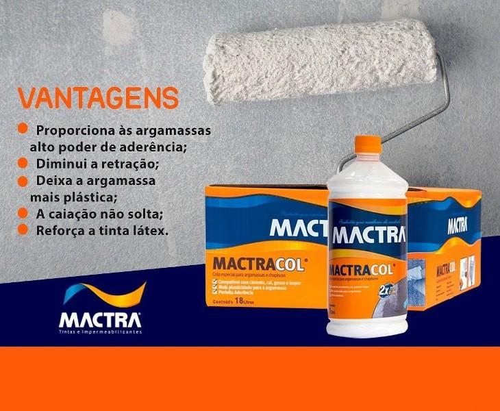 Adesivo Para Argamassa Liquido Mactracol Bianco 18 Lts Mactra